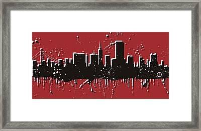 San Francisco Skyline Pop Art Framed Print