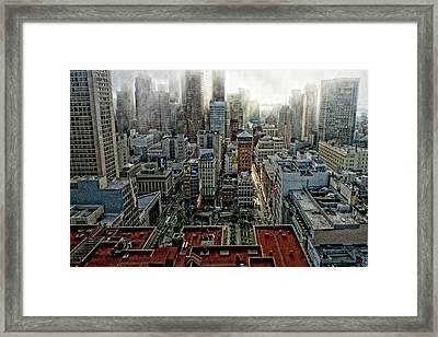 San Francisco Skyline Framed Print by Susan Stone