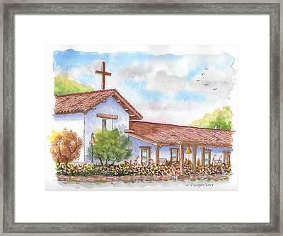 San Francisco Solano Mission, Sonoma, California Framed Print by Carlos G Groppa