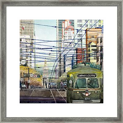 San Francisco Spaghetti Above Market Street Framed Print