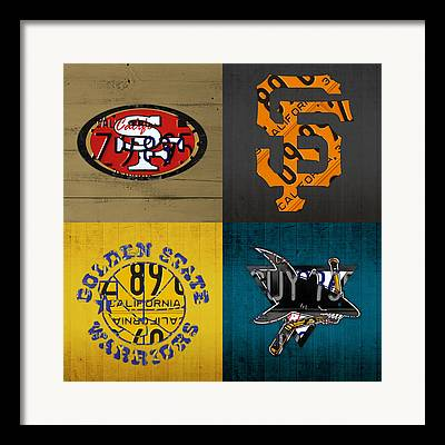 49ers Mixed Media Framed Prints