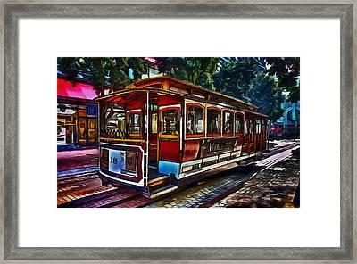 San Francisco Street Car Framed Print