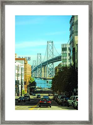 San Francisco Street Framed Print