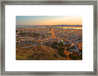 San Francisco Sunrise Framed Print