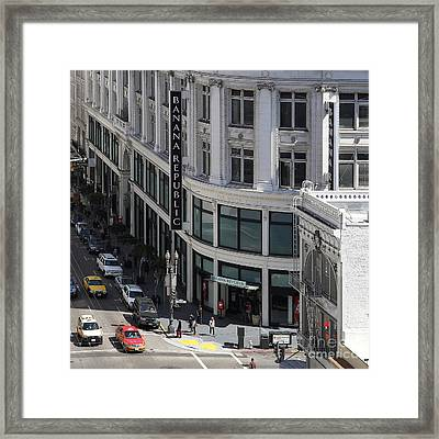 San Francisco Sutter Street East View 7d7509 Square Framed Print by Wingsdomain Art and Photography
