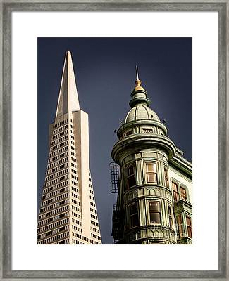 San Francisco Then And Now Framed Print