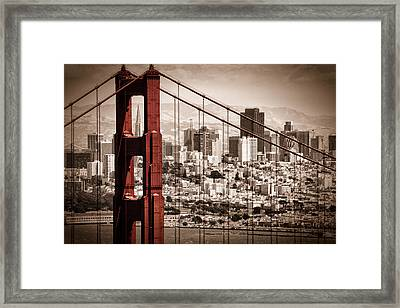 San Francisco Through The Bridge Framed Print by Matt  Trimble