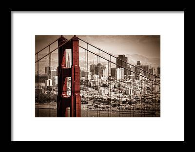 Golden Framed Prints