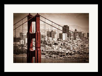 Red Buildings Framed Prints