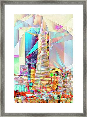 San Francisco Transamerica Tower In Abstract Cubism 20170326 V2 Framed Print