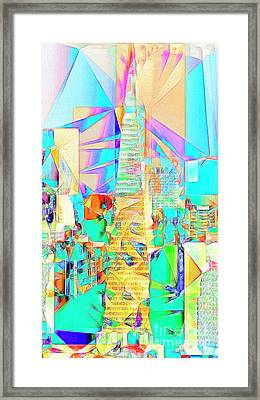 Framed Print featuring the photograph San Francisco Transamerica Tower In Abstract Cubism 20170326 by Wingsdomain Art and Photography