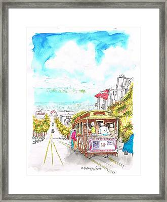San Francisco Trolley - California Framed Print