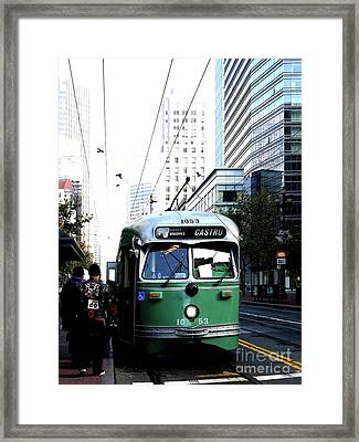 San Francisco Trolley Castro Line . 40d3023 Framed Print by Wingsdomain Art and Photography