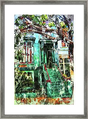 San Francisco Victorian Framed Print