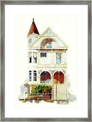San Francisco Victorian Framed Print by William Renzulli