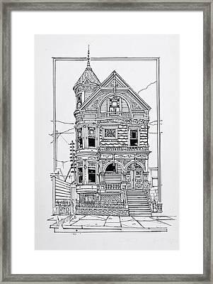 San Francisco Victorians  Framed Print