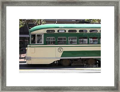 San Francisco Vintage Streetcar On Market Street - 5d17973 Framed Print by Wingsdomain Art and Photography