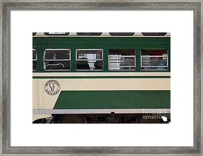 San Francisco Vintage Streetcar On Market Street - 5d17974 Framed Print by Wingsdomain Art and Photography