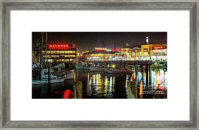 San Francisco's Fisherman's Wharf Framed Print