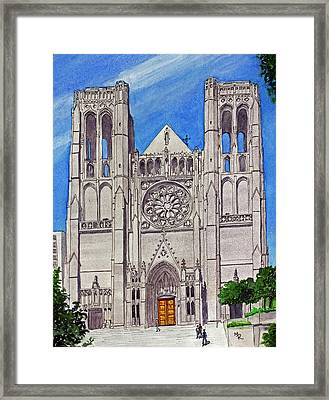 San Francisco's Grace Cathedral Framed Print by Mike Robles
