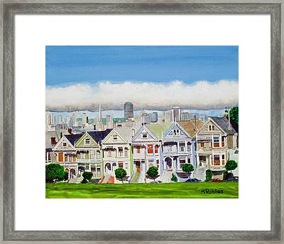 San Francisco's Painted Ladies Framed Print by Mike Robles