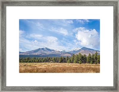 San Fransico Peaks Framed Print by Jon Manjeot