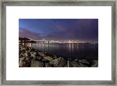 San Fransico Skyline From Treasure Island  Framed Print by John McGraw