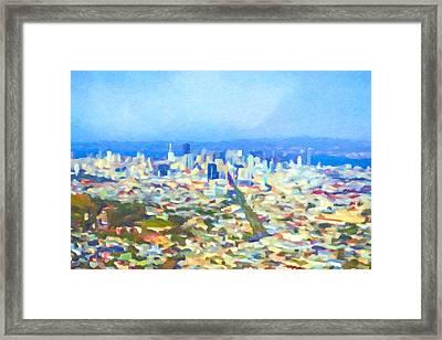 San Fransisco Impression Framed Print