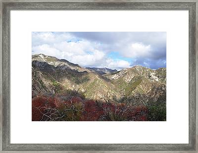 San Gabriel Mountains National Monument Framed Print by Kyle Hanson