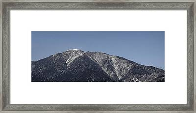 San Gabriel Mountains Framed Print
