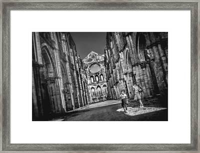 San Galgano - Tuscany Framed Print by Luca Lorenzelli