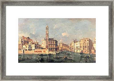 San Geremia And The Entrance To The Canneregio Framed Print
