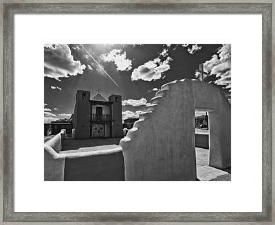 San Geronimo Chapel Taos Pueblo Framed Print