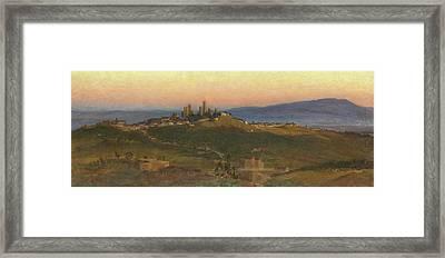 San Gimignano, 1898 Framed Print by Edith Ridley Corbet