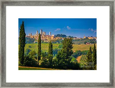 San Gimignano Framed Print by Inge Johnsson