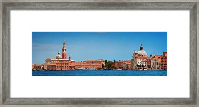 Framed Print featuring the photograph San Giorgio Maggiore Church Panorama by Songquan Deng