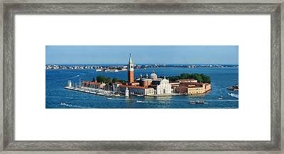 Framed Print featuring the photograph San Giorgio Maggiore Island Panorama by Songquan Deng