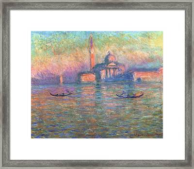 San Giorgio Maggiore Venice Framed Print by Claude Monet