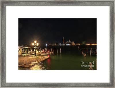 San Giorgio Maggiori At Night Framed Print
