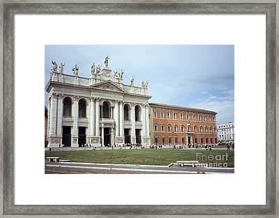 San Giovanni And Palazzo Lateranense Framed Print by Fabrizio Ruggeri