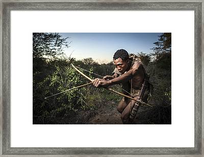 San Hunting Framed Print by Ben Mcrae