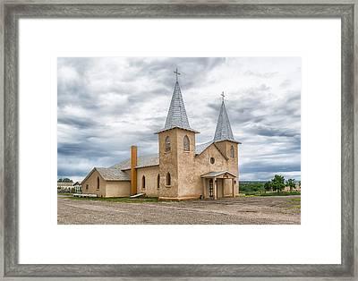 San Jose Church In Anton Chico Nm Framed Print by Alan Toepfer