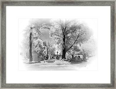 Framed Print featuring the photograph San Jose De Dios Cemetery by Sean Foster