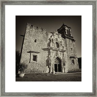 Framed Print featuring the photograph San Jose Mission - San Antonio by Stephen Stookey