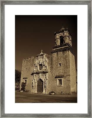 San Jose - Sepia Framed Print by Stephen Stookey