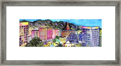 San Jose Skyline Framed Print