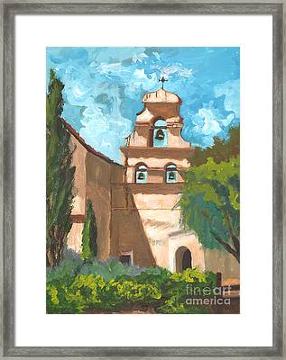 San Juan Bautista Mission Style Framed Print
