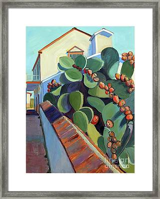 San Juan Bautista Prickly Pear Framed Print