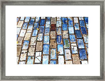 San Juan Blue Cobblestone Framed Print