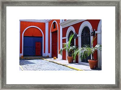 San Juan Calle Virtud Framed Print